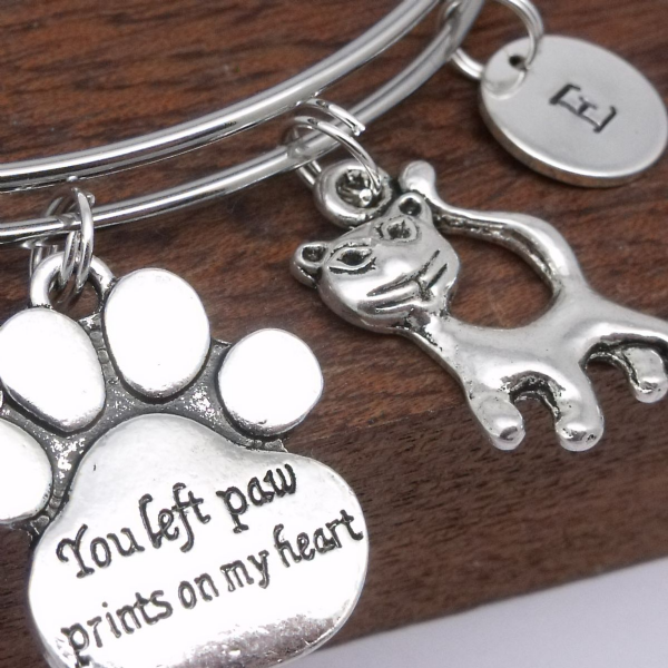 Cat or Kitten Pet Remembrance Memorial Bracelet Bereavement Jewellery Gift